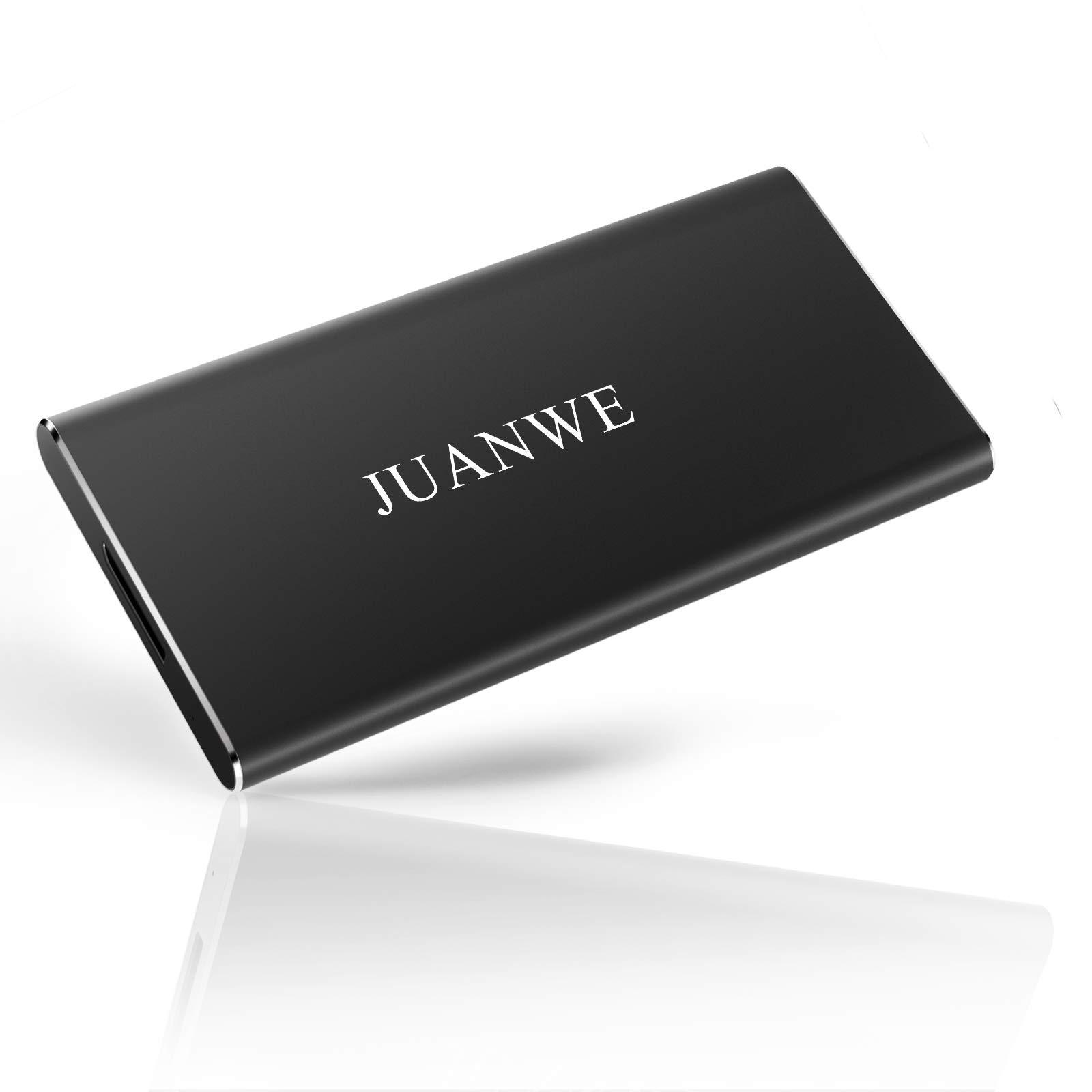 JUANWE 240GB USB 3.0 External Portable SSD, High Speed Read/Write Ultra Slim Solid State Drive - Black