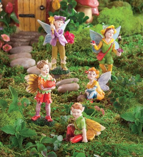 Nature Themed Fairies, Set of 5, in Boy