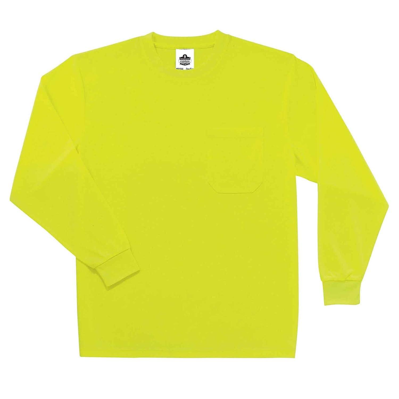 Lime Ergodyne GloWear 8091 Non-Certified High Visibility Long Sleeve T-Shirt Large