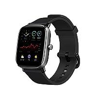 Amazfit GTS 2 Mini Fitness Smart Watch Alexa Built-In, Super-Light Thin Design, SpO2 Level Measurement, 14-Days Battery Life, 70+ Sports Modes, Heart Rate, Sleep, Stress Level Monitoring, Black