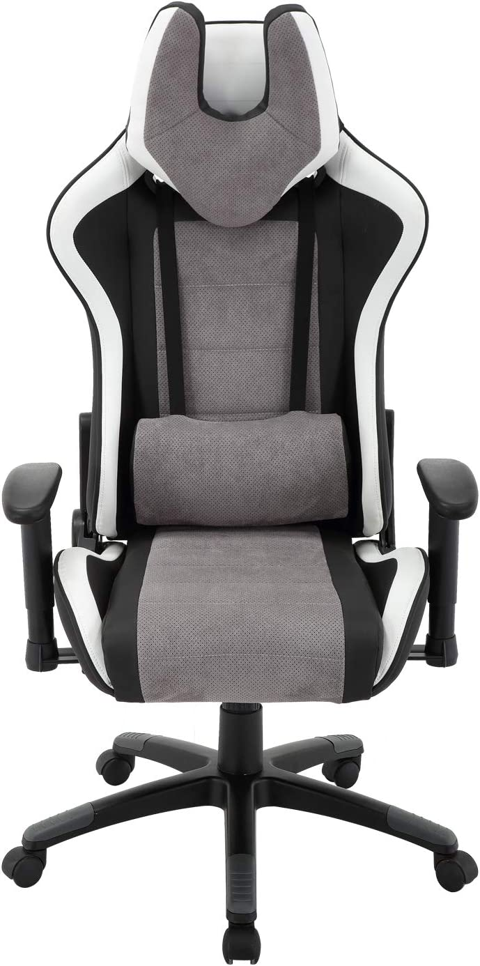 Brage Living Admiral Adjustable Ergonomic Gaming Chair with Lumbar and Head Support (Admiral-Black/Grey)