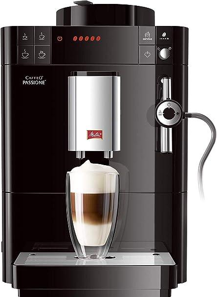 Melitta Passione F530-102, Cafetera Automática con Molinillo, Café en Grano, Sistema de leche, Limpieza Automática, Personalizable, 15 Bares, Negro: Amazon.es: Hogar