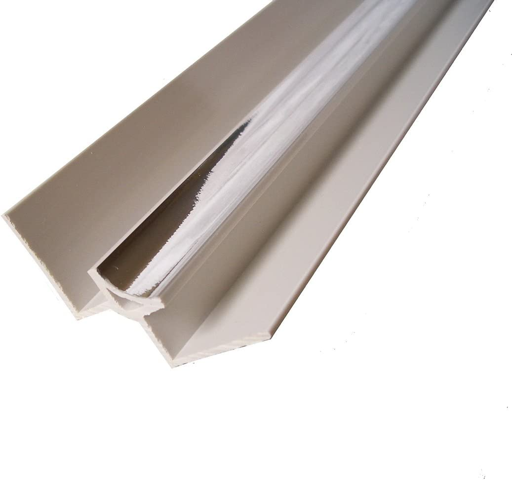 Chrome Panel Trim Perfect for Bathroom Kitchen Shower Wall PVC Cladding Panels-5mm Internal Corner Edging Trim-100/% Waterproof-Use with Claddtech Adhesive