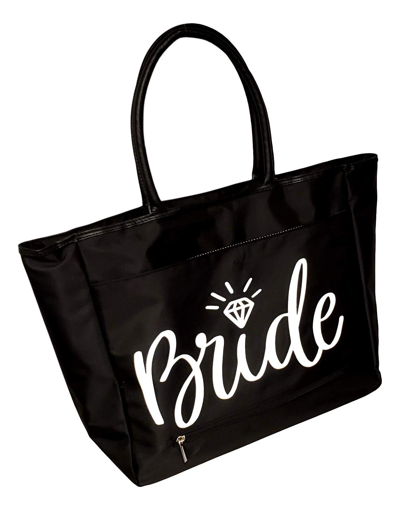 Bridal Bride Large Black Organizing Travel Companion Purse Handbag Bag