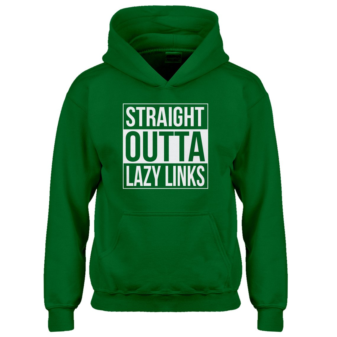 Indica Plateau Youth Straight Outta Lazy Links Kids Hoodie 3700-Z