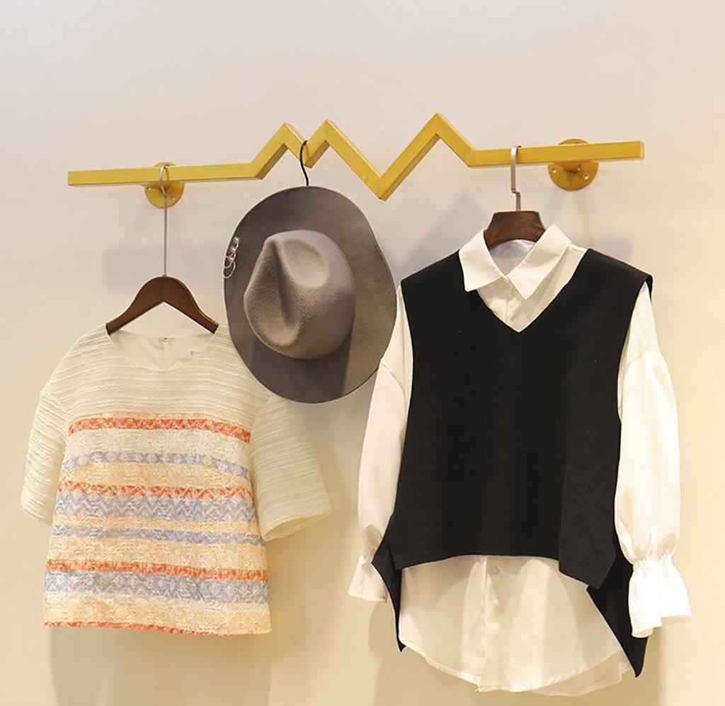 衣料品ディスプレイラック、アイロン衣類ラック、レトロ服店ハンガー、衣類棚 (サイズ さいず : 100cm) 100cm  B07R12RFTL