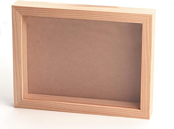 Darice 97824 Unfinished Wood Shadow Box 12-1//2-Inch