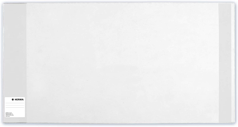 Buchh/ülle aus robuster Folie mit Namensetikett Gr/ö/ße 25 x 44 cm, transparent HERMA 14250 Buchumschlag Basic 10er Set Buchschoner f/ür Schulb/ücher