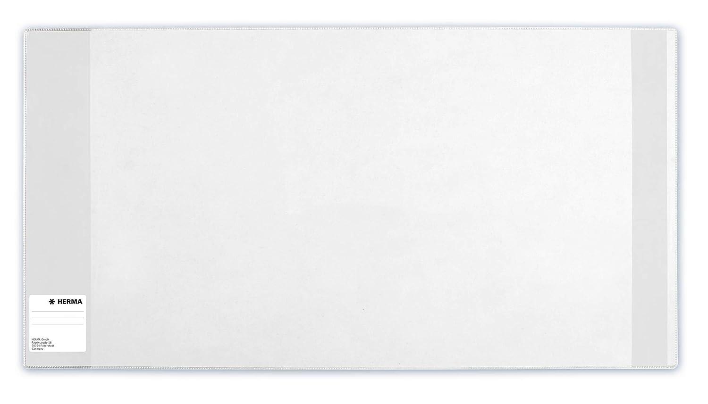 10er Set Buchschoner f/ür Schulb/ücher Buchh/ülle aus robuster Folie mit Namensetikett Gr/ö/ße 29,5 x 54 cm, transparent HERMA 7295 Buchumschlag HERM/ÄX Classic