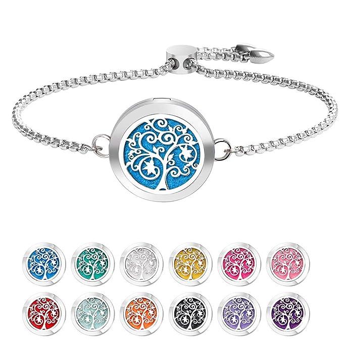 Small Gift for Kids or Adults Diffuser Bracelet String Bracelet Essential Oil Bracelet Party /& Birthday Gift Adjustable Lava Bracelet
