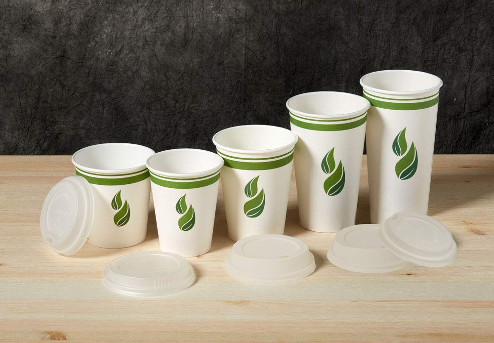 Eco Guardian 12 Ounce Compostable PLA-Lined Drinking Cup, White, 1000 Pack by Eco Guardian (Image #6)