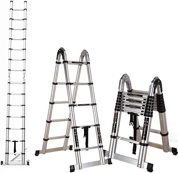 HUI Escaleras Plegable Y Telescópica (Portátil,Multi-Propósito,Extensible,Aluminio,con Bisagras,Certificada por EN131,Capacidad De 150kg, Casa,Desván Y Oficina),1.9+1.9m-Multi-functionLadder: Amazon.es: Hogar