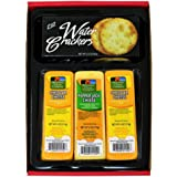 WISCONSIN CHEESE COMPANY'S. Cheddar Cheese and Cracker Gift Box, 100% Wisconsin Cheddar Cheese and Pepper Jack Cheese…