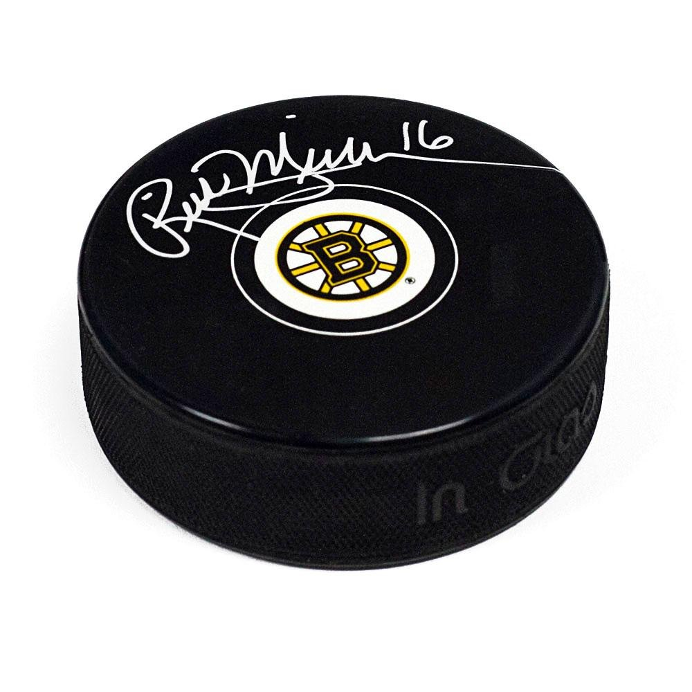Rick (Boston Bruins) Middleton Signed Puck - Autographed NHL Pucks Sports Memorabilia