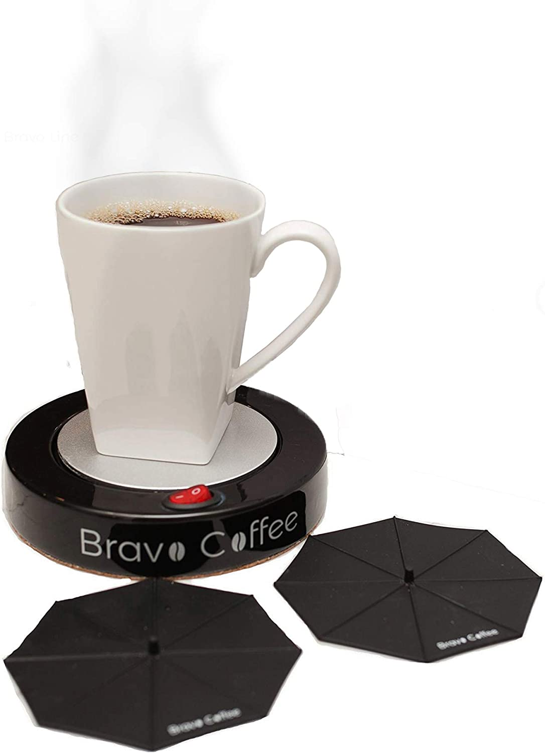 Bravo Line Hottest Coffee Mug Warmer with Automatic Shutoff – Best Electric Personal Beverage Warmer for Desk