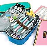 Rashen(TM) Astuccio portamatite, spazioso, per cancelleria di studenti, colore blu