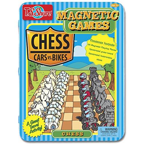 - T.S. Shure Tin Cars vs. Bikes Theme Magnetic Chess Game