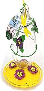 Garden Treasures Dragonfly Icon HB Feeder Powder Coated Yellow Hummingbird Feeder