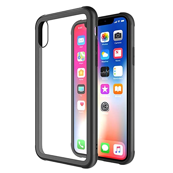 3935396354b0 Case for iPhone X iPhone Xs Crystal Clear Slim Fit iPhone X Case 9H  Tempered Glass