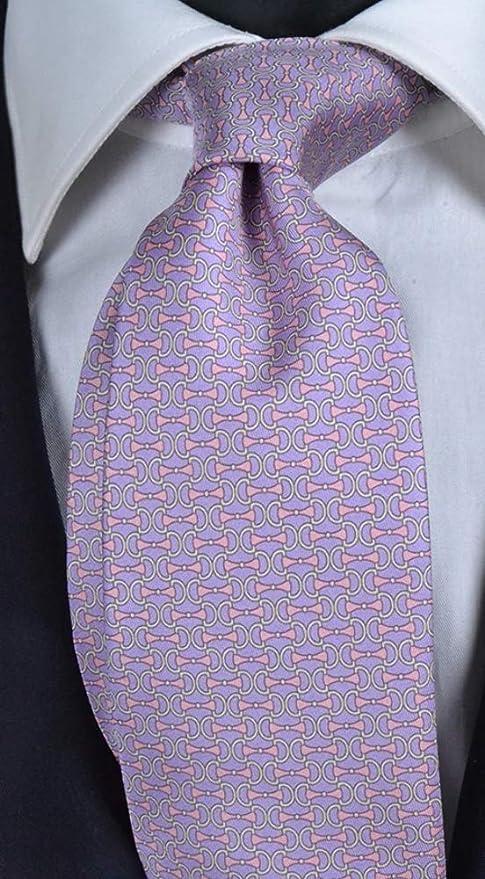 Corbata de hombre con impresión de fondo de glicerina con micro ...
