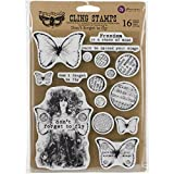 "Prima Marketing Finnabair Cling Stamps 6""X7.5"", Don't Forget to Fly"
