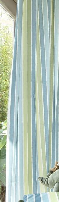 Catherine lansfield kids   cortinas (168 x 183 cm), diseño a rayas ...
