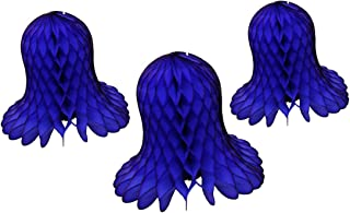 product image for 3-Piece Tissue Paper Bells, Dark Blue, 9-15 Inch