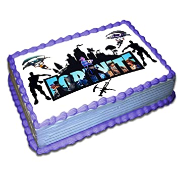 fortnite cake toppers icing sugar paper 8 5 x 11 5 inches sheet edible frosting photo birthday cake - fortnite images for cake