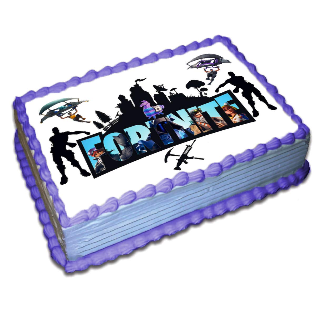 Fortnite Cake Toppers Icing Sugar Paper 8.5 x 11.5 Inches Sheet Edible Frosting Photo Birthday Cake Topper (Best Quality Printing)