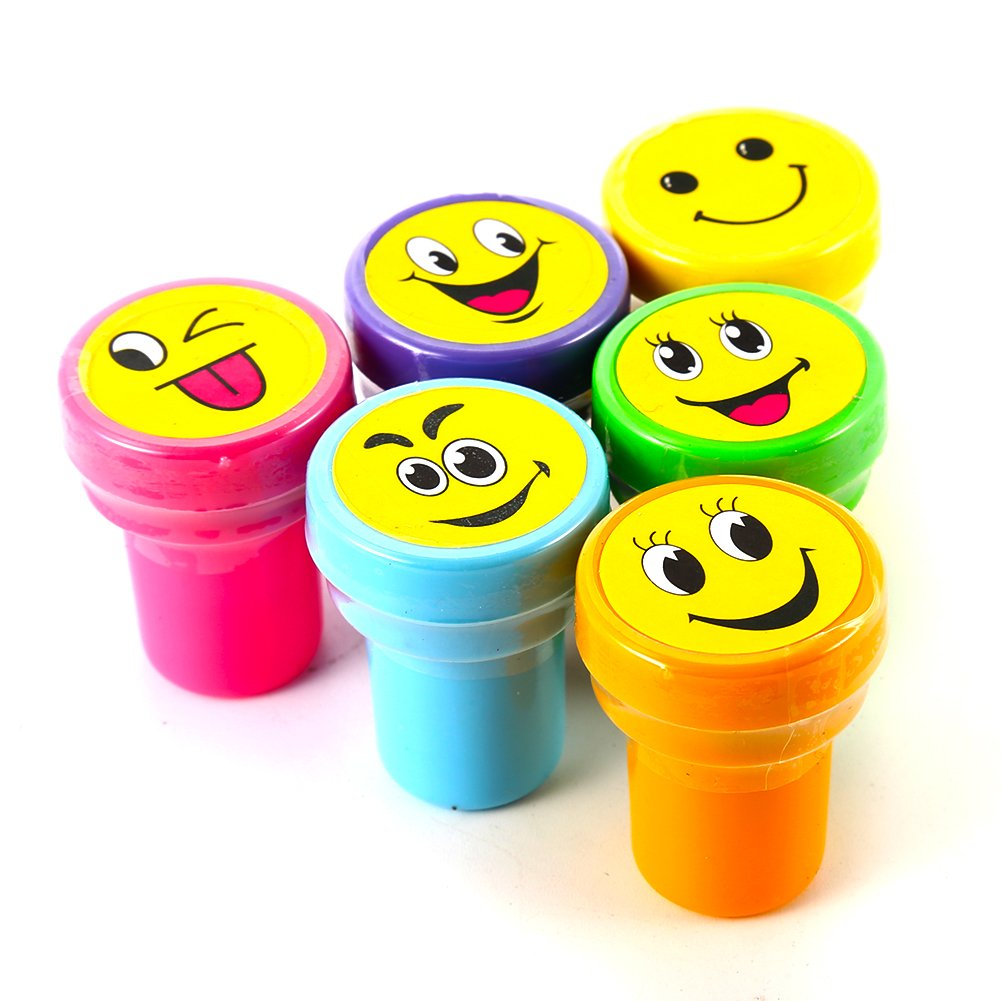 ETbotu 60PCS / a Box of 6 Different Patterns New Cute Smiley Seal