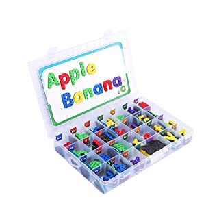 Kit di lettere magnetiche, alfabeto magnetiche con lavagna da disegno, carte di carta, giocattoli educativi per imparare i bambini