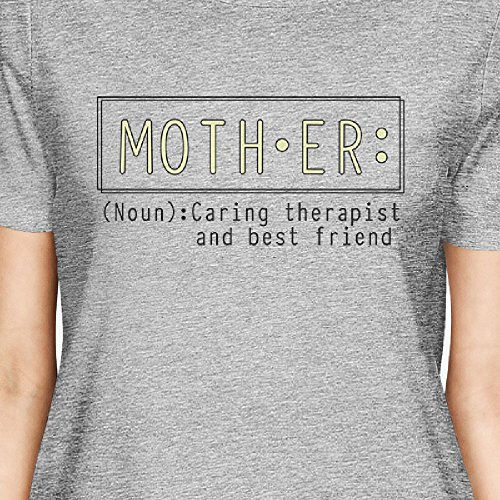 Printing Mother Femme T 365 Gray Therapist Courtes Taille shirt And Unique Manches Friend O8dwqd