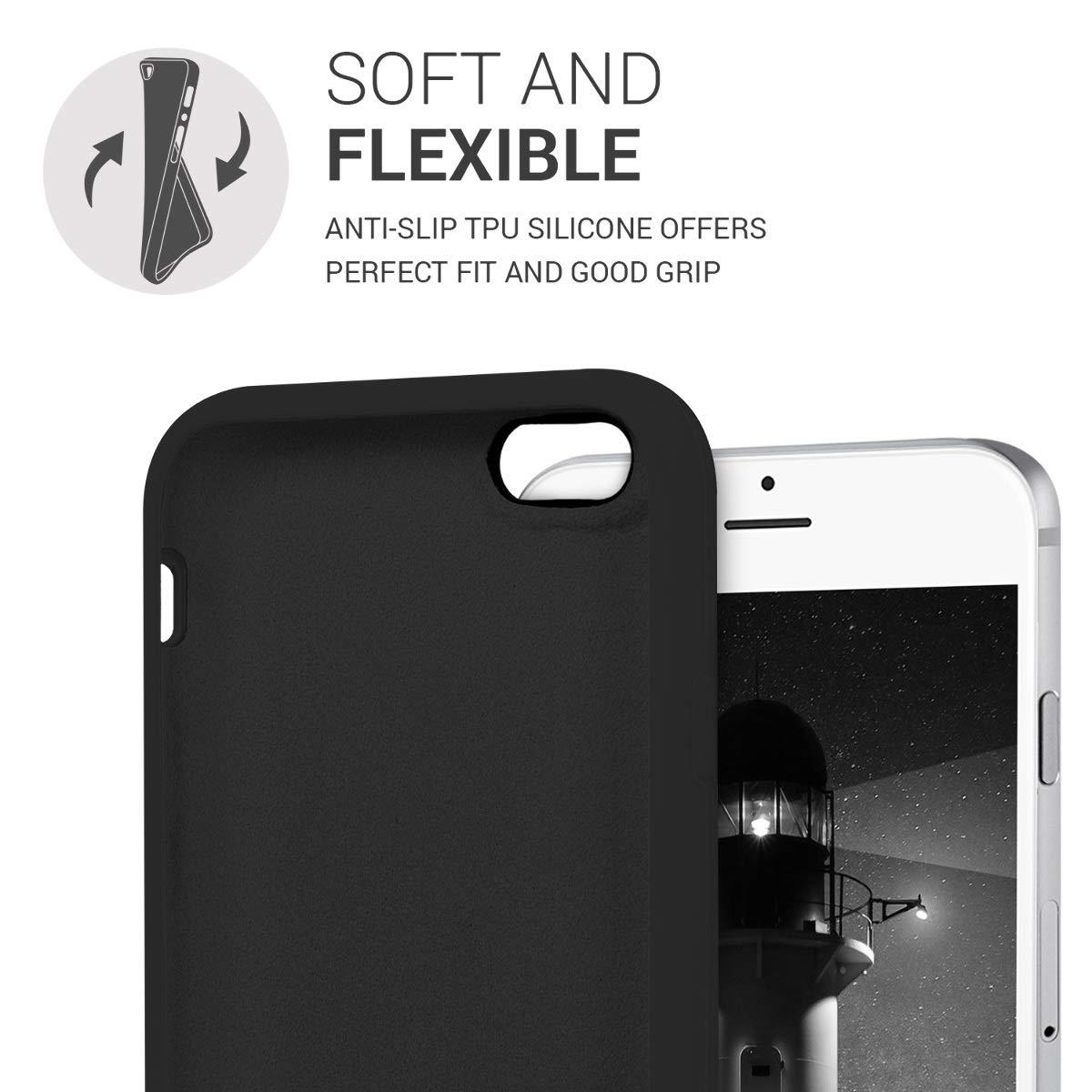 Funda Blanda, Apple, iPhone 6//6S, 11,9 cm , Negro 4.7 kwmobile 40223.47 Funda para tel/éfono m/óvil 11,9 cm Funda Blanda Negro 4.7 Fundas para tel/éfonos m/óviles