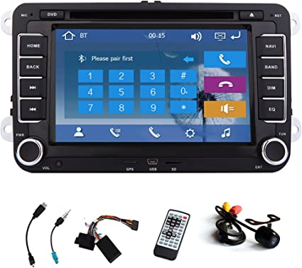 Car DVD CD Player GPS Navigation Stereo Autoradio Radio For Volkswagen VW Jetta Golf Skoda Passat Seat Head Unit+Canbus 7 Inch Touchscreen FM AM iPod ...