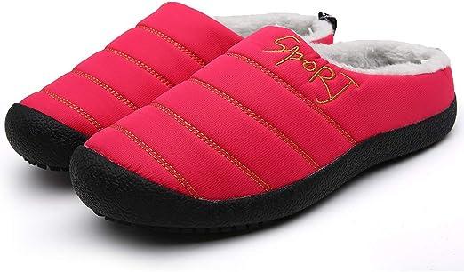 Men´s Plus Velvet Cotton Para mantener el calor Zapatos de algodón ...