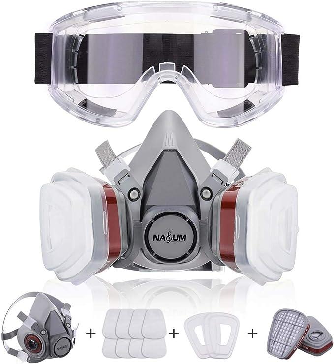 NASUM Facial Cubierta Antipolvo, con 2 Filtros / 2 Cajas / 8