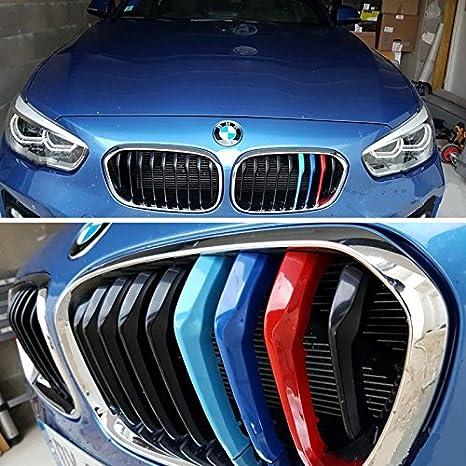 BizTech ® Parrillas de coche Inserciones Rayas decoración para BMW Serie 1 2015 - 2017 F20 F21 9 Parrila M Power M Sport Tech: Amazon.es: Coche y moto