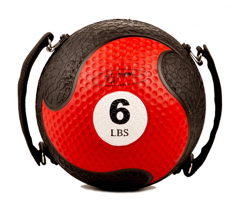 FitBALL MedBalls withストラップ  6lb - Red B001O0LOEQ