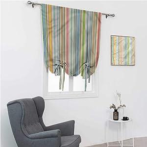 "Roman Window Shades Geometric Room Darkening Roman Shades Barcode Pattern Stripes 35"" Wide by 64"" Long"