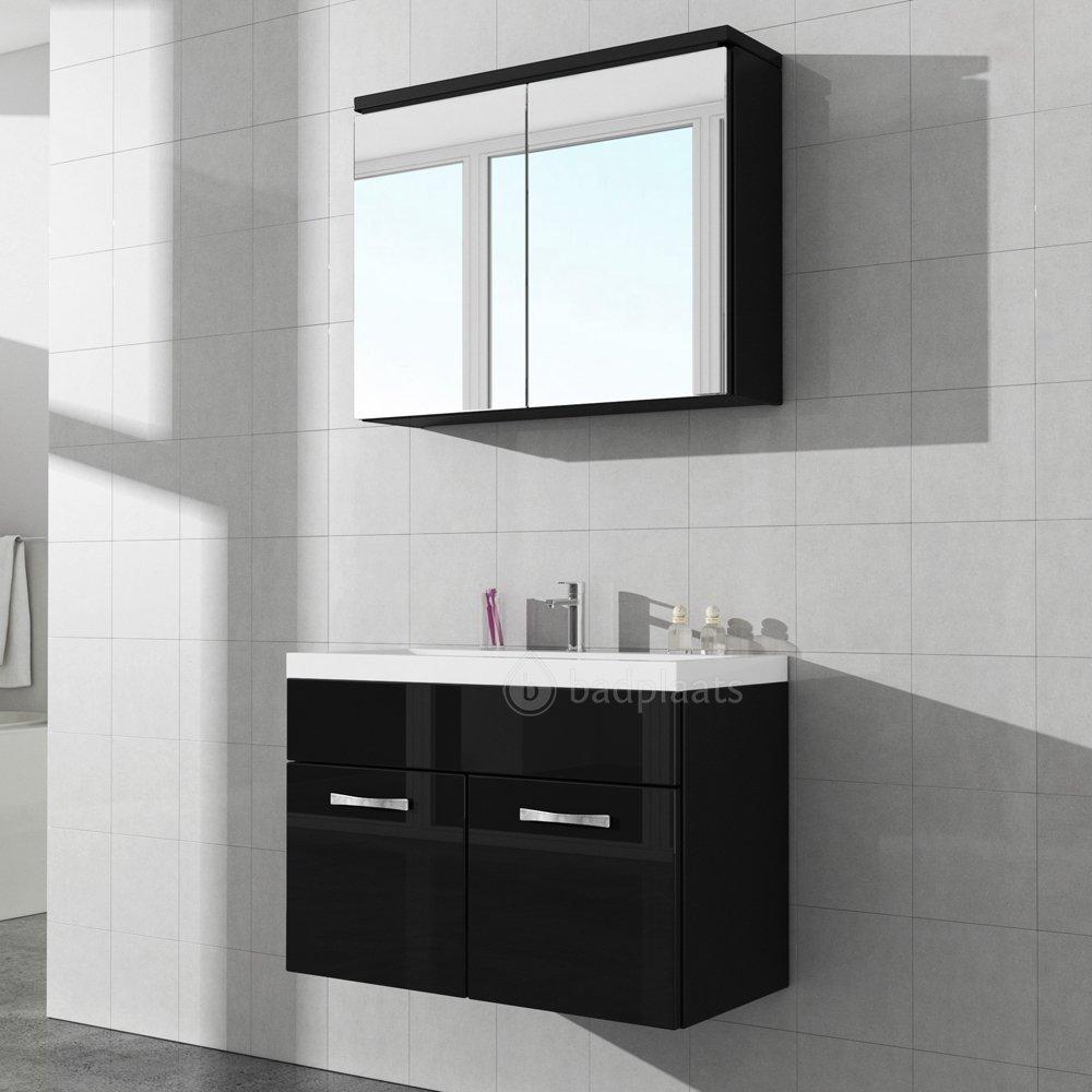 17 hermoso muebles de ba o negros fotos armario de bano - Armarios de bano altos ...