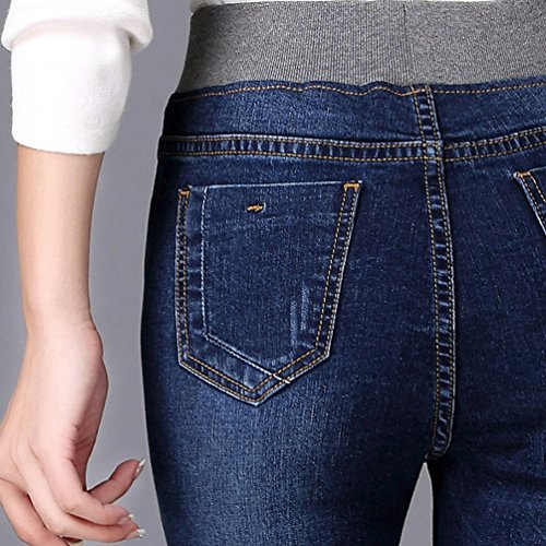 Alla Pantaloni Autunno Caviglia Slim Skinny Sigaretta Blu YuanDian Leggings In Denim Vita Elastico Jeans Donna Taglie Fit inverno Matita Casual Stretch Con e Forti wxfSUx