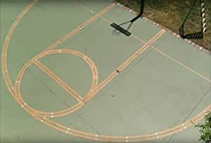 Ronan Sports Pro Kit Basketball Marking Stencil Kit   Includes Paint   Continuous Lines   Made in USA