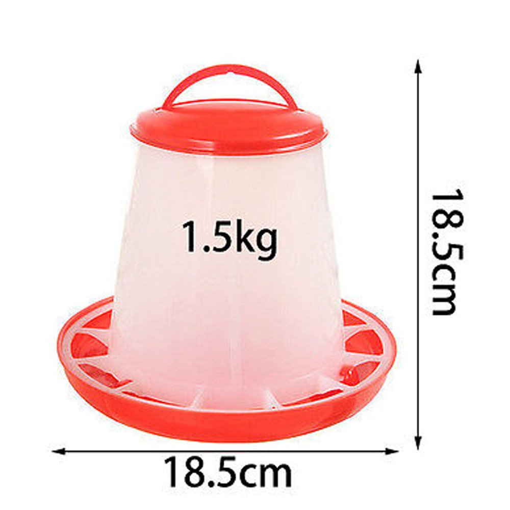 AnJieli Futterspender aus Kunststoff 1,5 kg rot