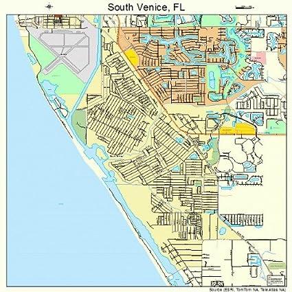 Amazon.com: Grande de calle y mapa de carreteras de Venecia ...