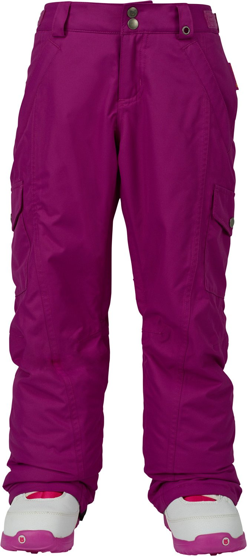 Burton Girls' Elite Cargo Snow Pant, Grapeseed