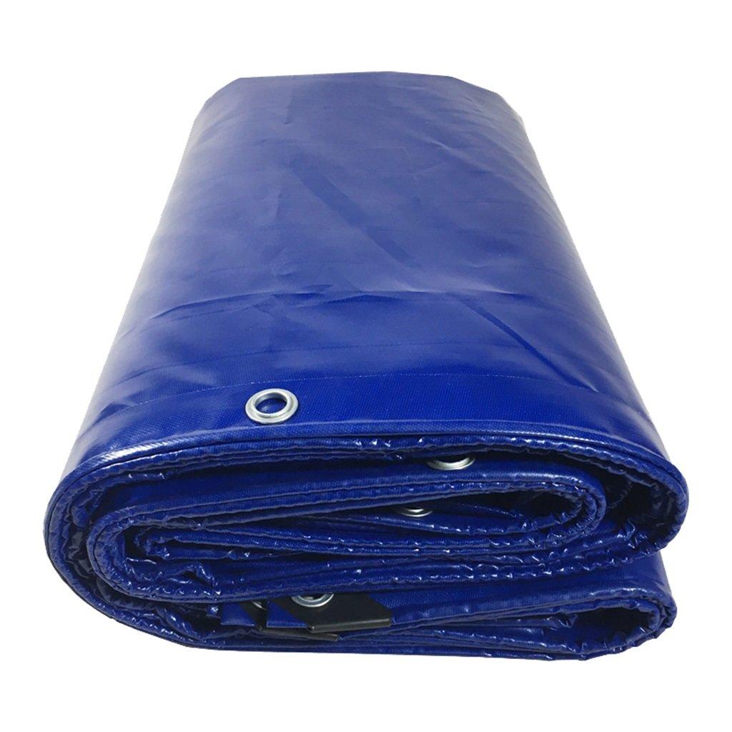 Zelt Zubehör Plane Multi-Purpose Wasserdichte Plane Heavy Duty Plane Auto Stiefel Dach Regen Abdeckung Camping Trailer Zelt - UV-Schutz - Dicke 0,45 mm (blau) Idee für Camping Wandern