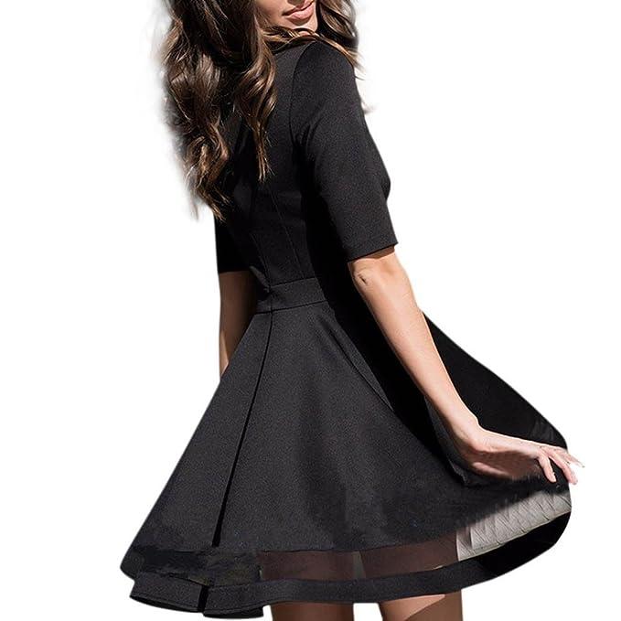 JYC Falda Larga,Vestidos Largos,Vestido Camiseta Encaje,Elegante Casual,Vestido Fiesta