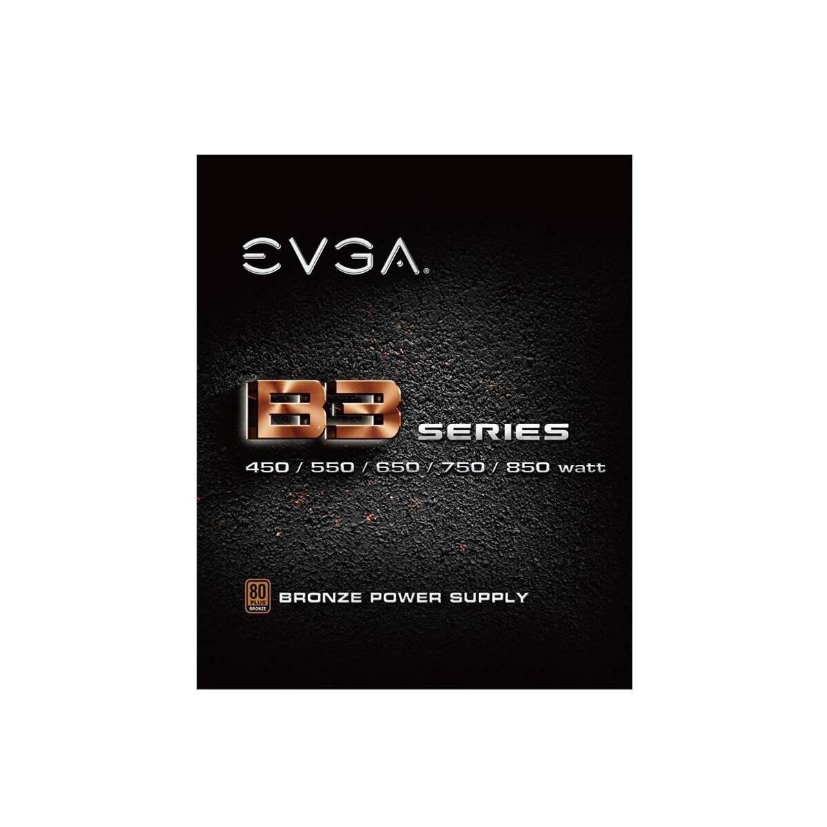Fuente de alimentaci/ón 220-B3-0750-V2 tama/ño Compacto de 160 mm EVGA 750 B3 Modo EVGA Eco Completamente Modular 80+ Bronce 750W