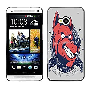 Dragon Case - FOR HTC One M7 - Love is a?light - Caja protectora de pl??stico duro de la cubierta Dise?¡Ào Slim Fit