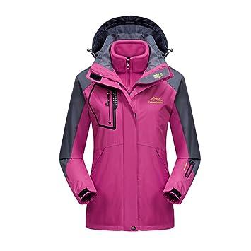 9a42e682639c48 iBaste Outdoorjacke für Damen und Herren 3 in 1 Jacke mit Kaupzen  Doppeljacke Damen Regenjacke Hardshelljacke